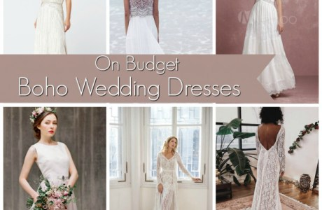 On Budget Boho Wedding Dresses