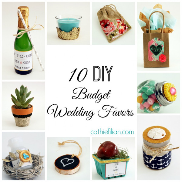 10 DIY Budget Wedding Favors