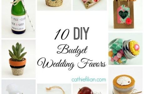 10 DIY Budget Wedding Favors
