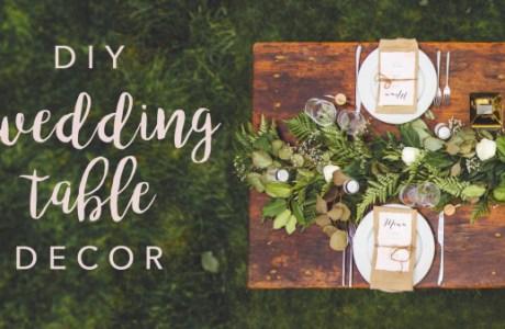 DIY Wedding Tablescape