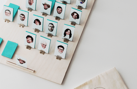 DIY Wedding Guest Guess Who Game