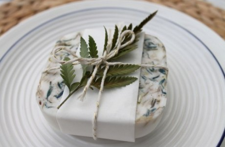 DIY Herbal Wedding Soap Favors