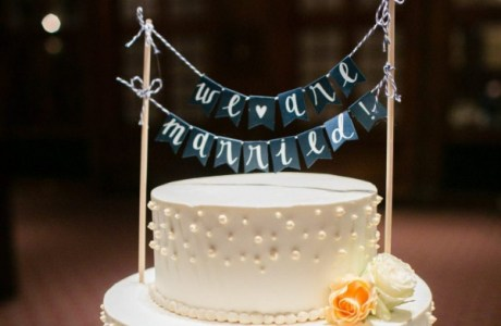 Adorable Paper Banner Cake Topper