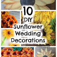 10 DIY Sunflower Wedding Decorations