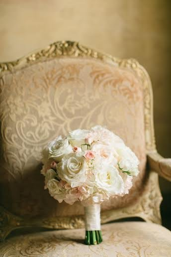 Bridal Bouquet with Roses and Hydrangea