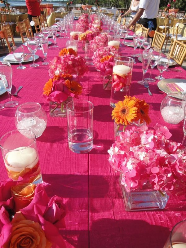 Tropical Colors At This Ca Dzan Wedding Reception Sarasota