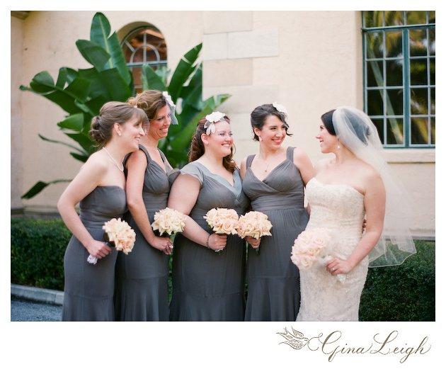 Bridal Party and Bouquets at Vintage Wedding at Powel Crosley Museum