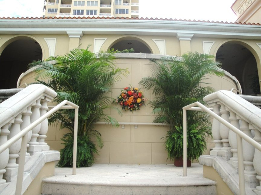 Wedding Flowers and Palms at Ritz Carlton Sarasota Healing Garden