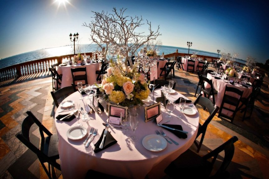 Wedding flowers and centerpieces at Ca d'Zan wedding