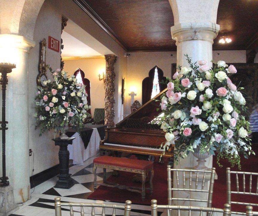 Flower Arrangements for Hollywood Film shot in Sarasota Florida