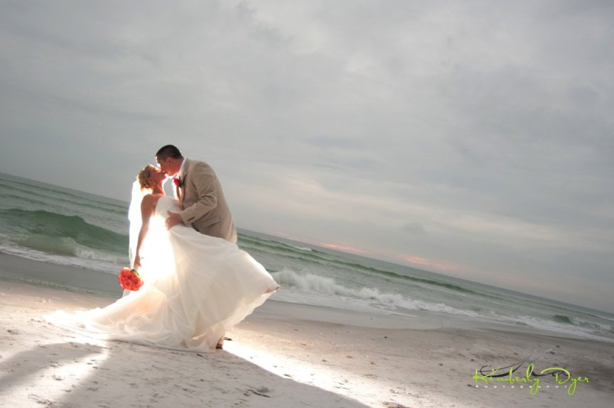 Bride & Groom at Longboat Key Beach Club Wedding