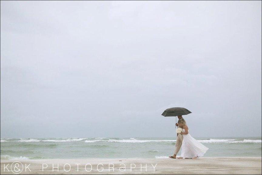 Sarasota Beach Wedding with Umbrellas