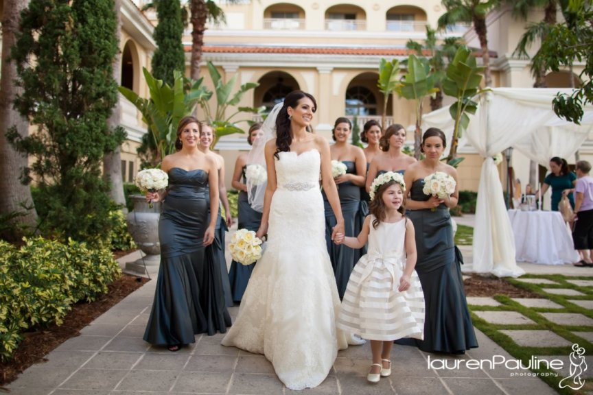 Romantic Garden Wedding at the Ritz Carlton Sarasota