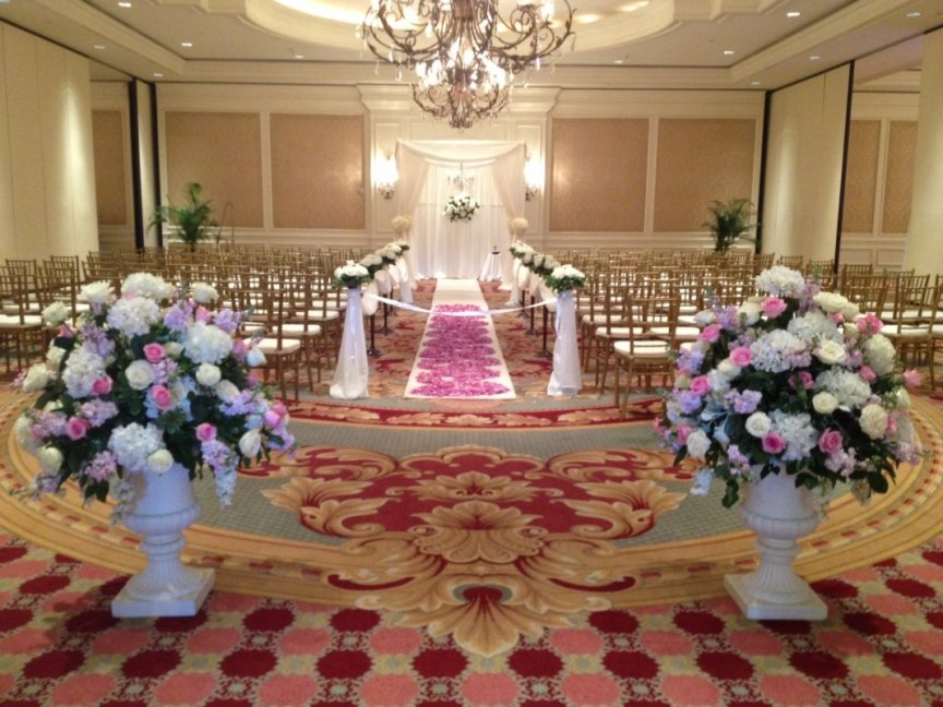 Ritz Carlton Ballroom -- prepared for Sarasota wedding