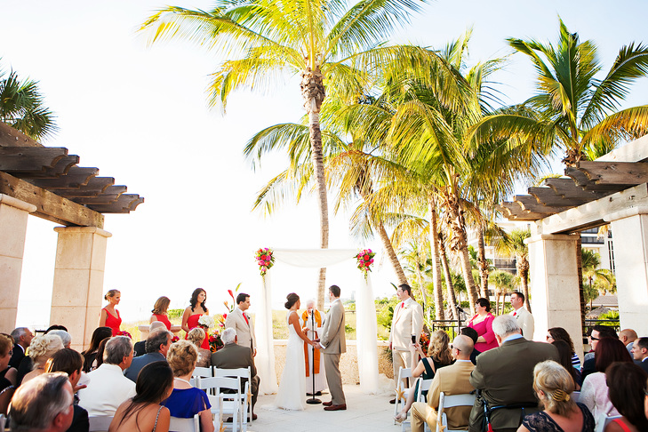 Colorful Ritz Beach Club Wedding