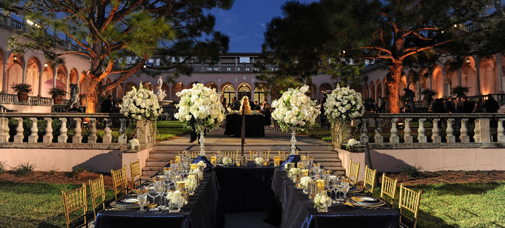 Slide Image: Ringling Court Wedding Reception