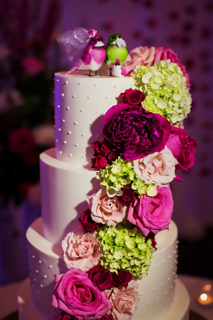 Wedding Cake in Bright Colors