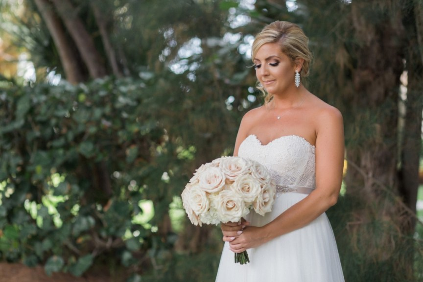 Bridal Bouquet of Blush Roses and Hydrangea