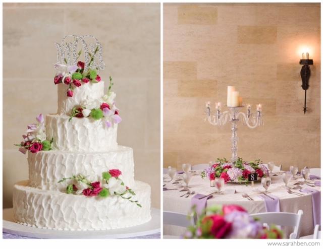 Wedding Cake with Crystal Candleabra