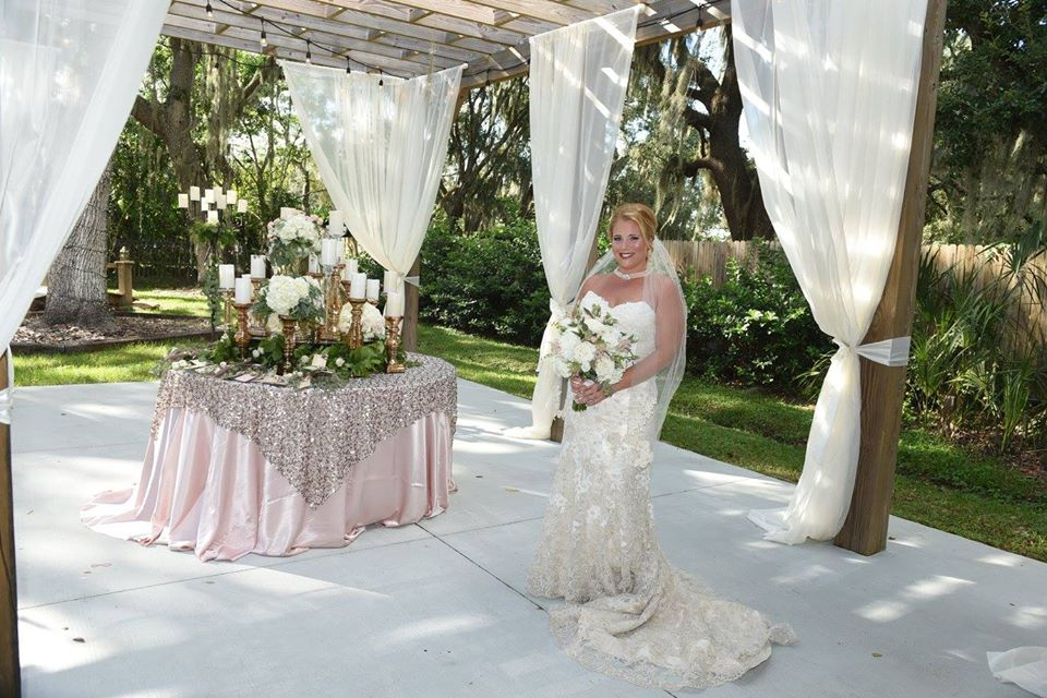 Bride with Place card table