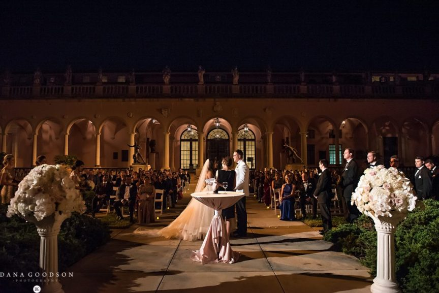 Wedding Ceremony at Ringling Courtyard