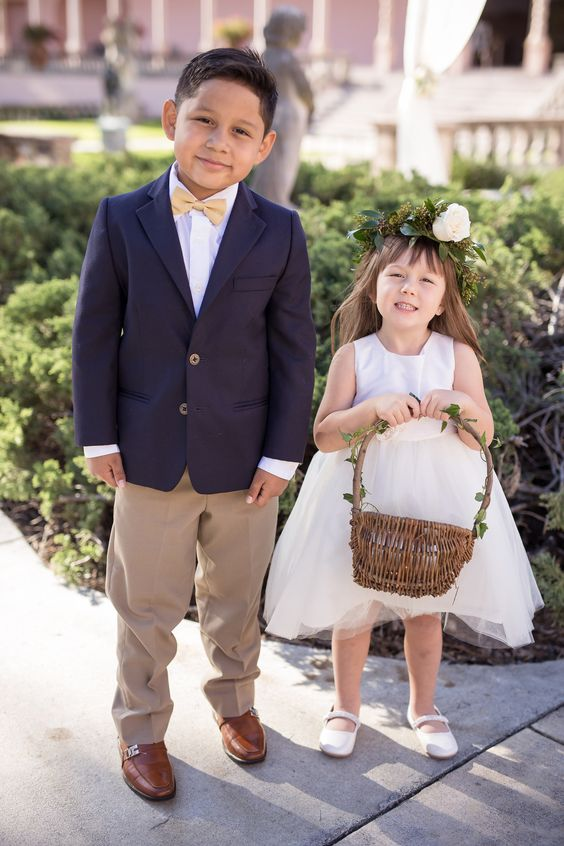 hair wreath and ring bearer