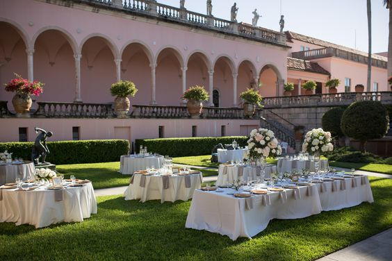 Guest Tables at Ringling Courtyard