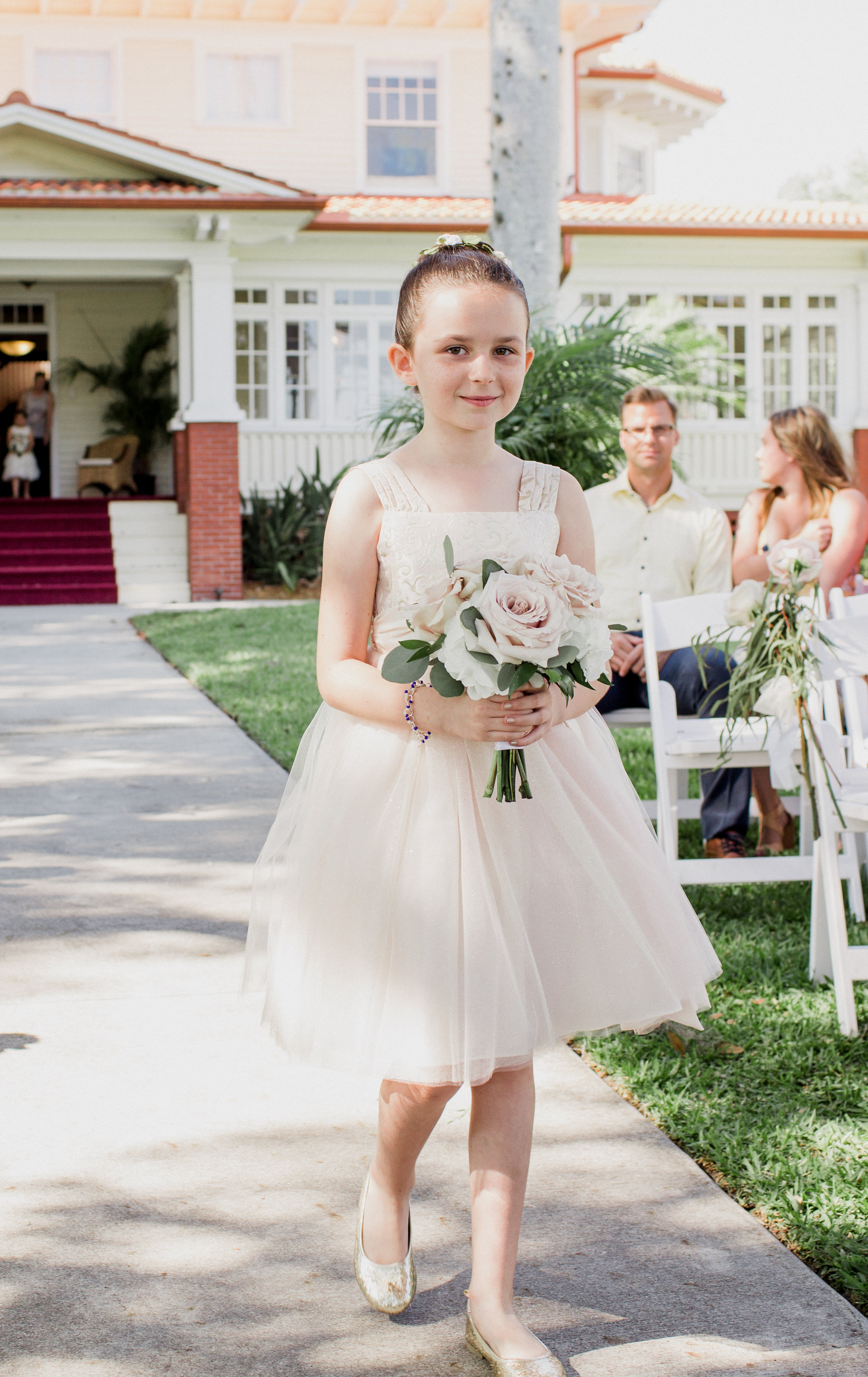 Jr. Bridesmaid with Rose Bouquet