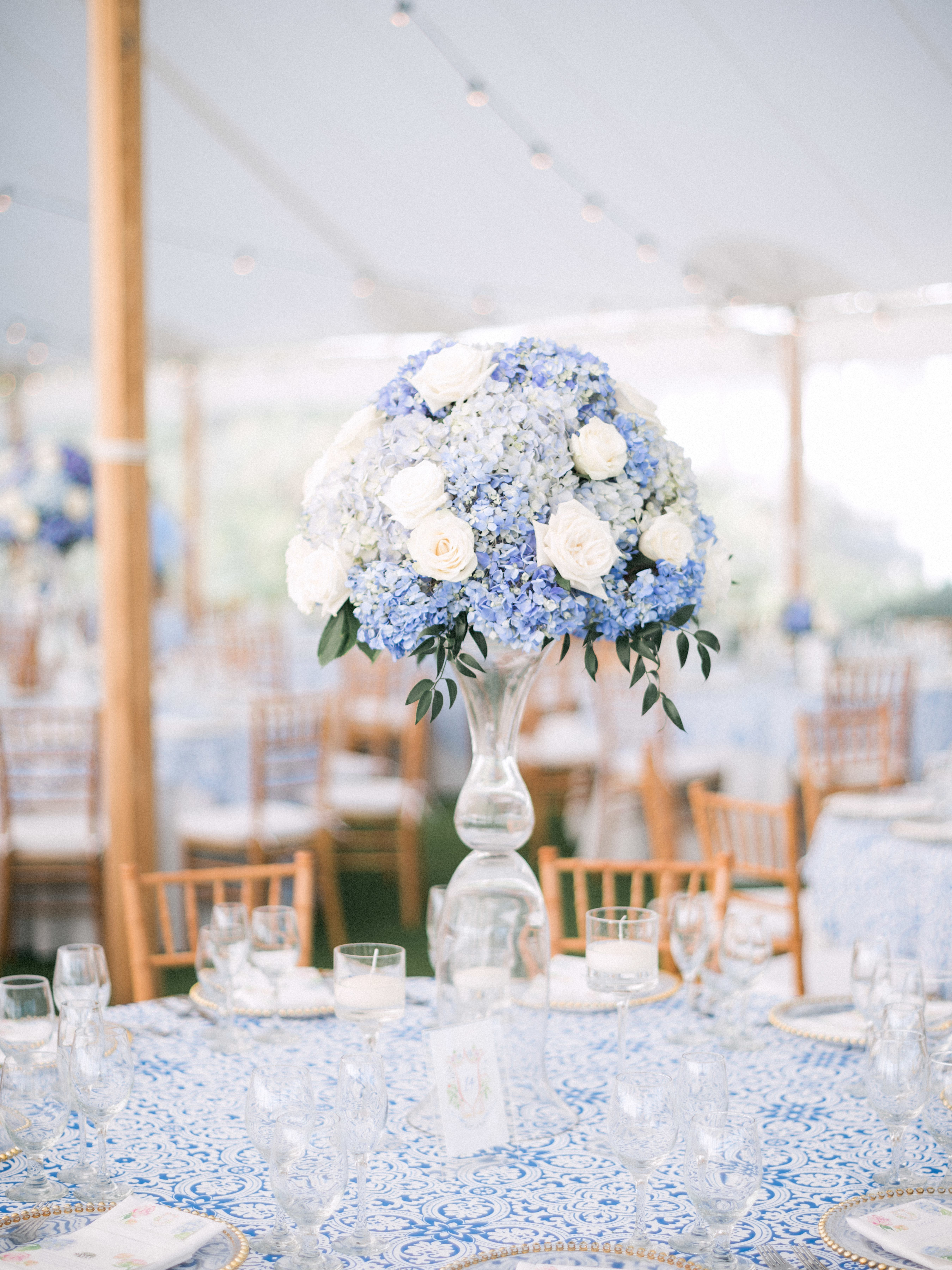 Beautiful Blue and White Boca Grande Wedding | Sarasota Wedding Flowers