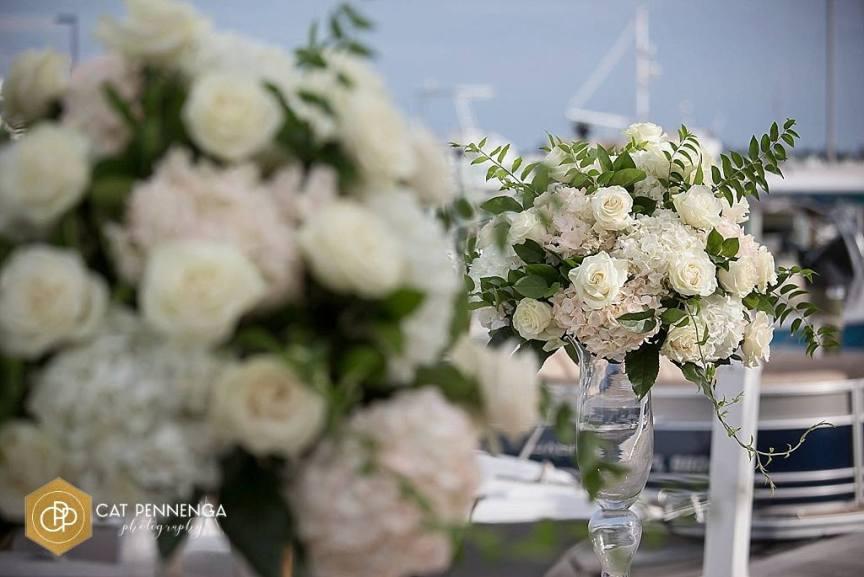 Close Up of Wedding Ceremony Flowers