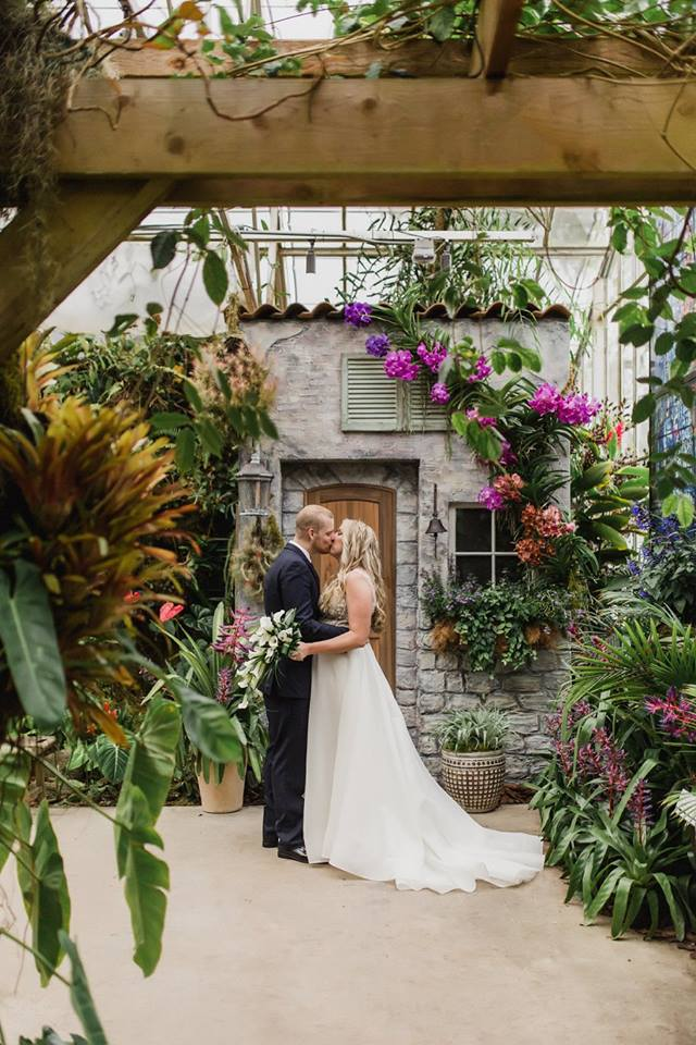 Couple in Selby Gardens Greenhouse