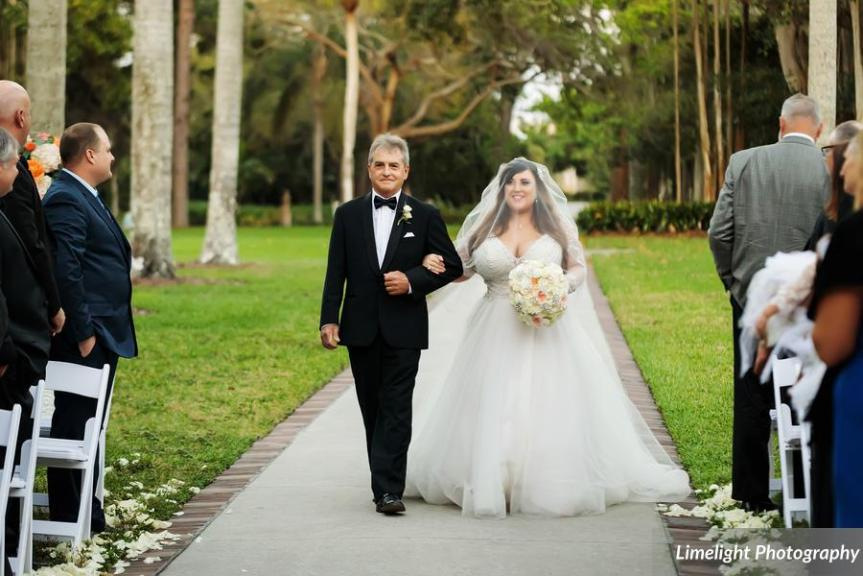Bride Coming Down Aisle with Dad