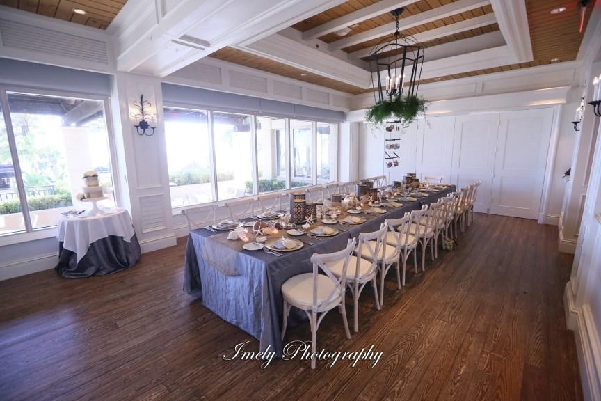 Seaglass Room at Ritz Carlton Beach Club Featuring Longer Style Feasting Table