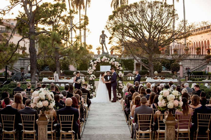 Ringling Courtyard with Ceremony Arch