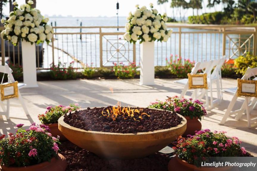 Ceremony Site Bayview Terrrace Ritz Carlton Sarasota