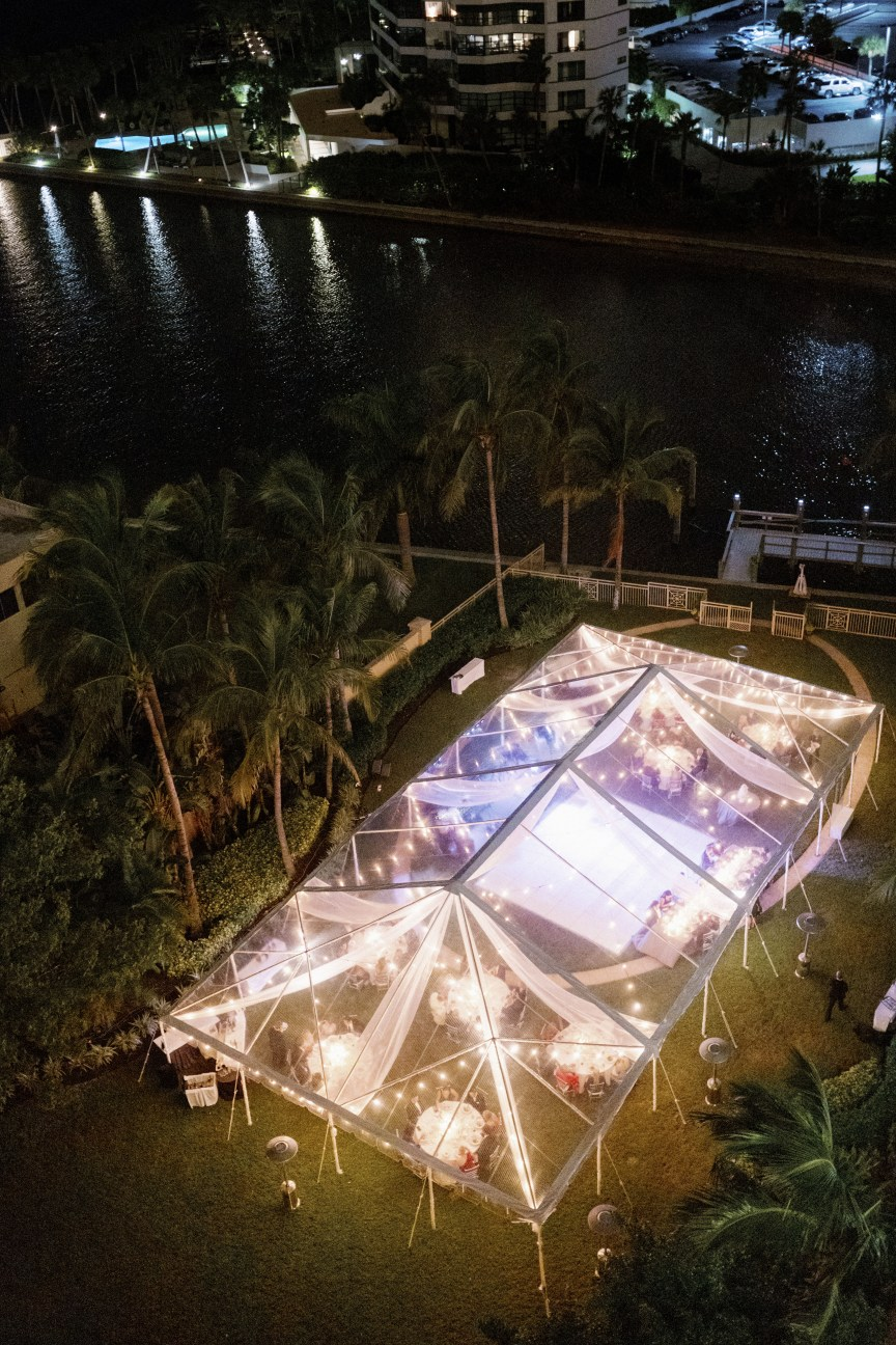 Top View of Beautiful Acrylic Tent