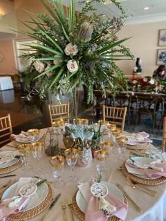 Banksia Protea Wedding Centerpiece with Cactus