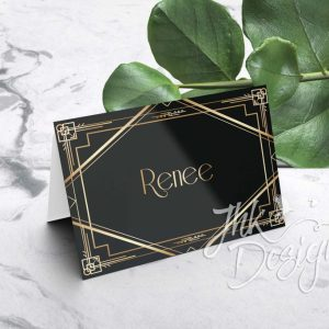 Gatsby Folded Wedding Place Cards