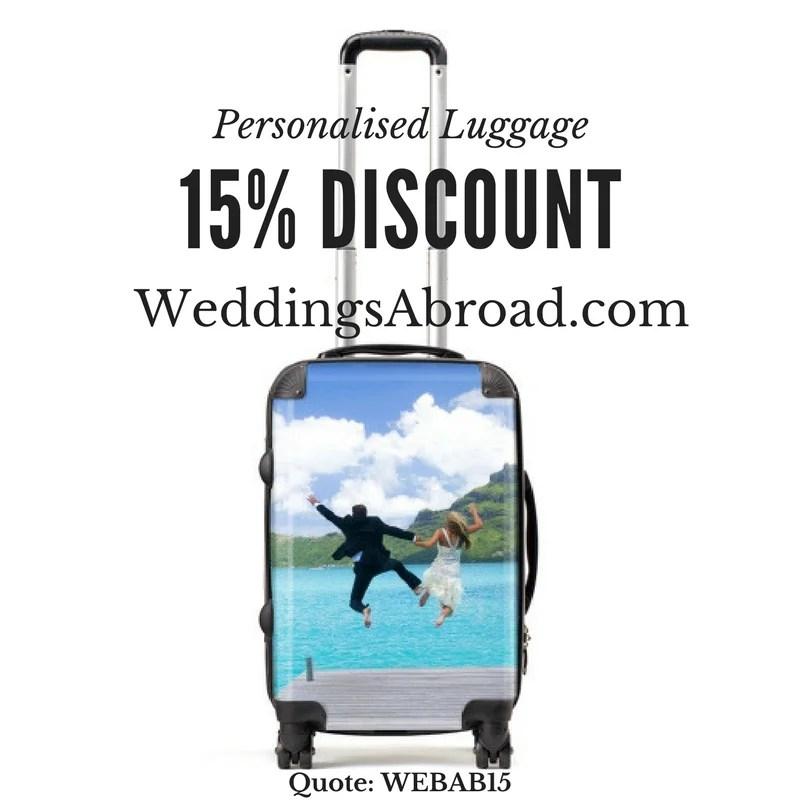 Personalised Luggage WeddingsAbroad.com