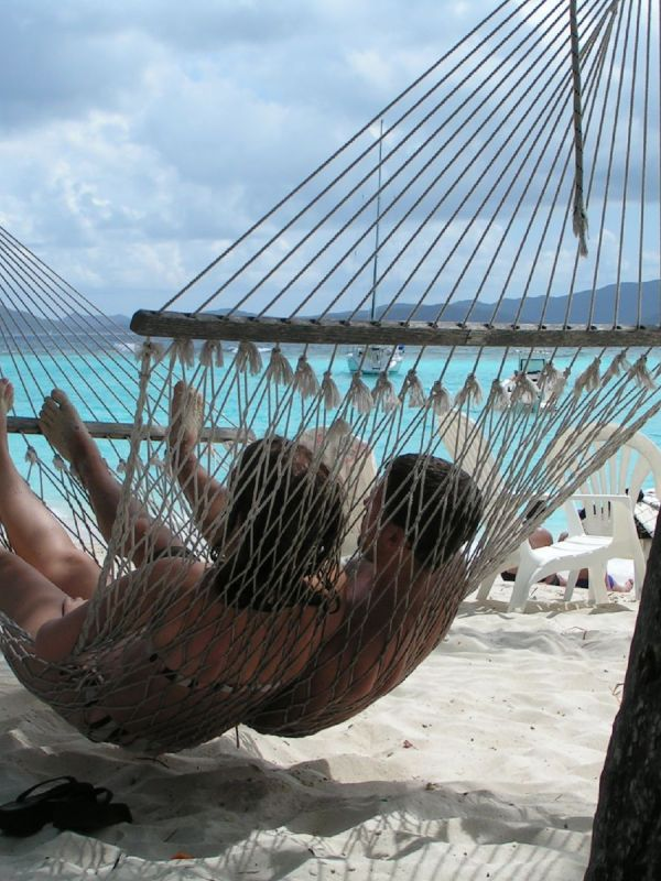 India Honeymoon - Beach Couple in hammock - WeddingsAbroad.com