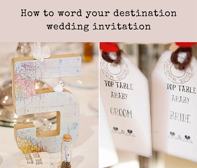 How To Word Your Destination Wedding Invitation Chantal