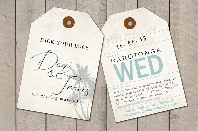 Fabulous Wedding Invitation And Save The Date