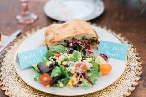 bocata and salad