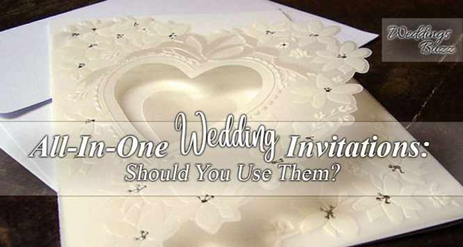 All In One Invitations Should You Pick It For Your Wedding