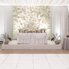 Chair Cover Hire And Setup Banquet Chairs Wedding Flower Wall Backdrop