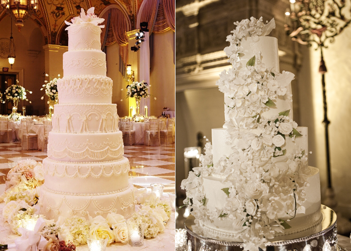 Wonderful Winter White Wedding Cakes