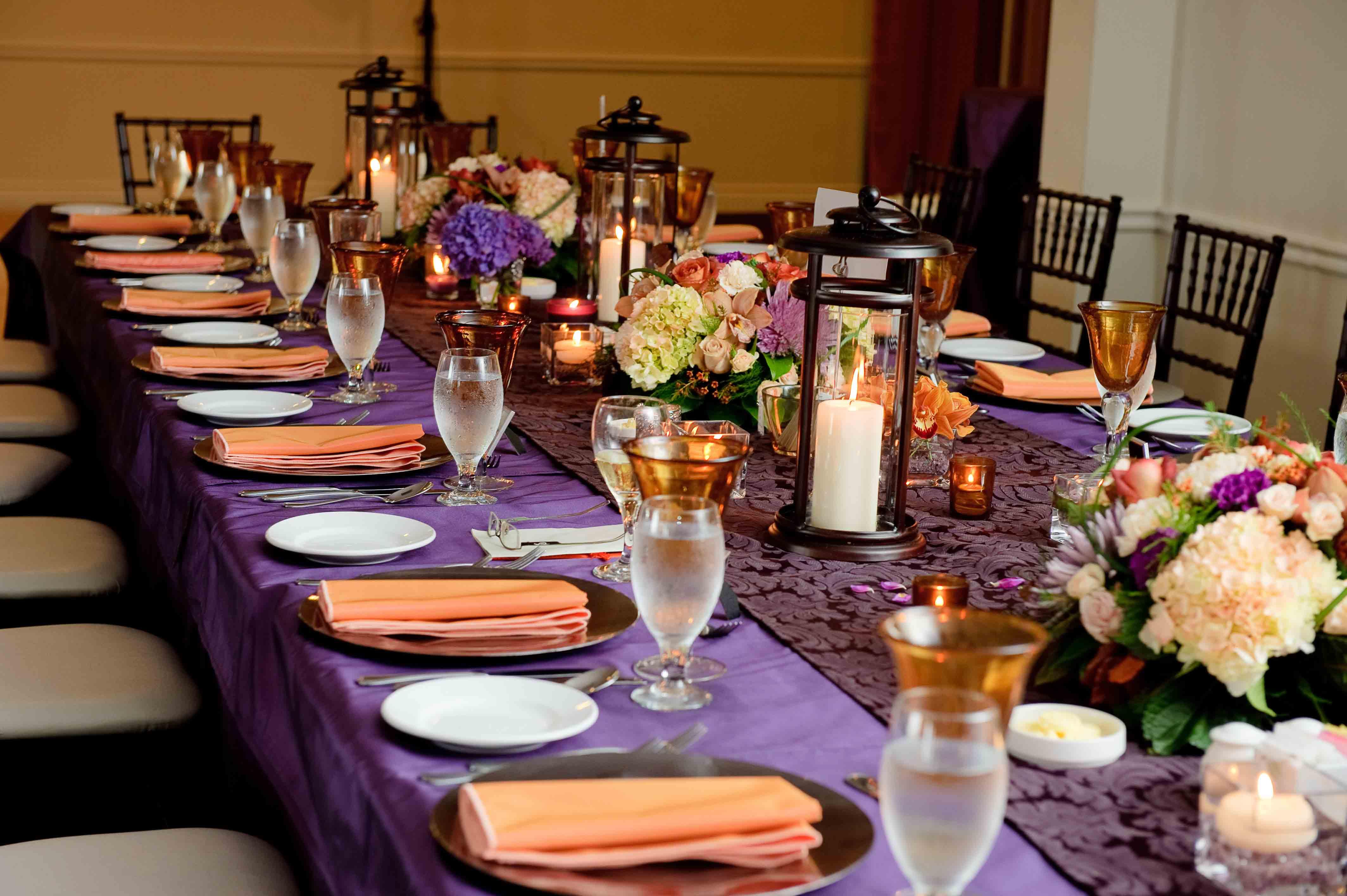 Orange And Purple Wedding Inspiration