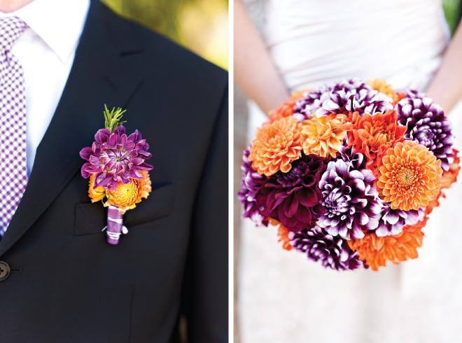 Wedding Ideas: Orange And Purple Wedding