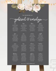 also french florals wedding seating chart co rh weddingseatingco