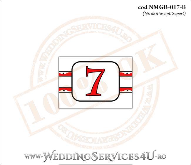 NMGB-017-B Numar de Masa pentru Botez cu motive traditionale